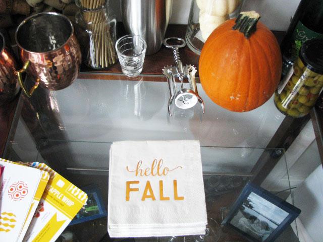 Fall Bar Cart