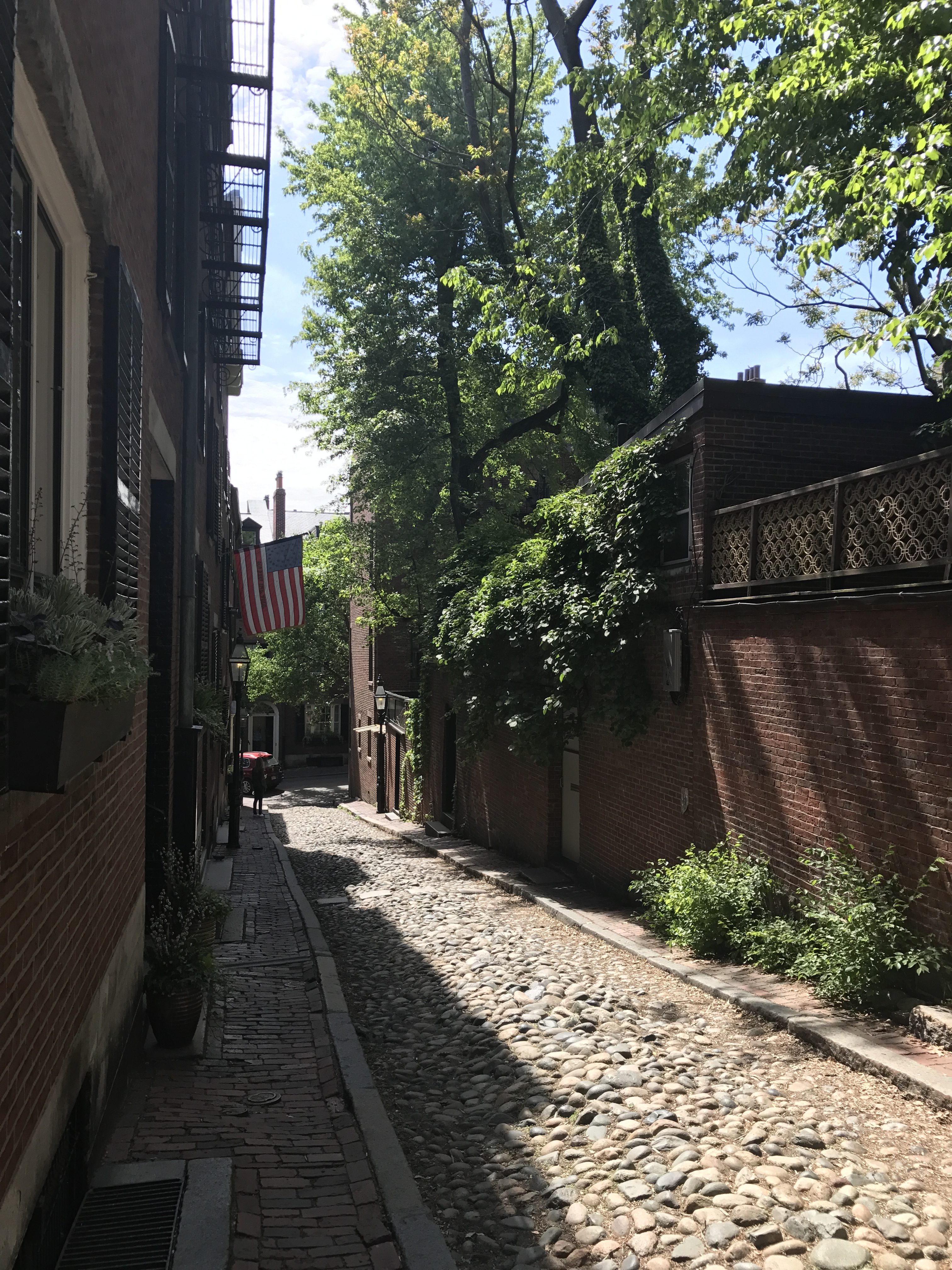Acorn Street in Beacon Hill, Boston