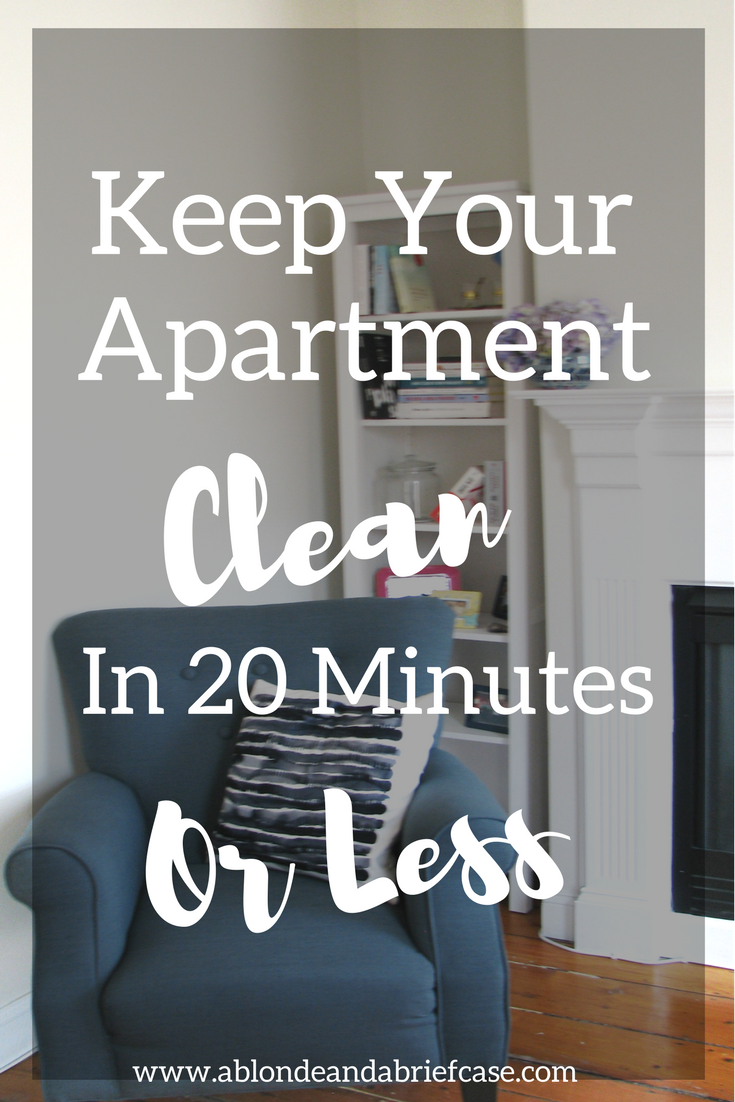 Keep Your Apartment Clean in 20 Minutes or Less A Day